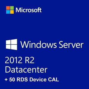 Windows Server 2012 R2 Datacenter + 50 RDS Device CALs
