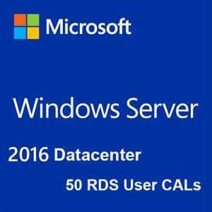 Windows Server 2016 Datacenter + 50 RDS User CALs