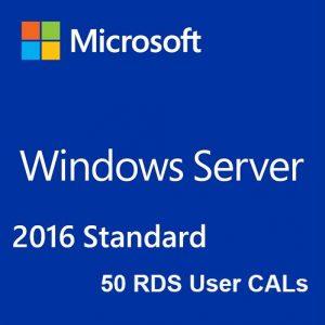 Windows Server 2016 Standard + 50 RDS User CALs