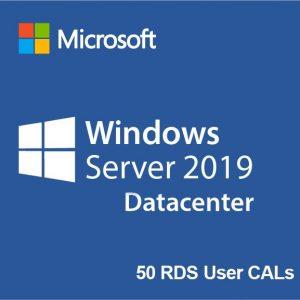 Windows Server 2019 Datacenter + 50 RDS User CALs