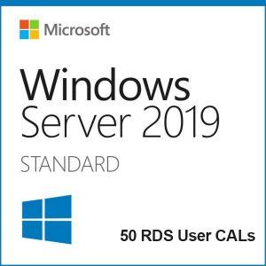 Windows Server 2019 Standard + 50 RDS User CALs